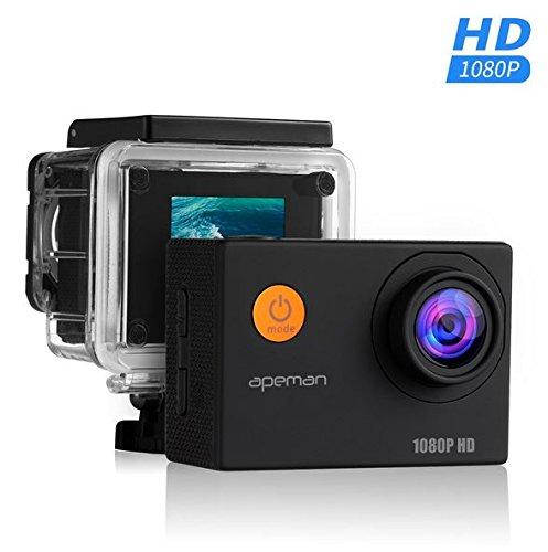 Apeman Sports Action Cam 1080p mit Zubehör Amazon Warehouse