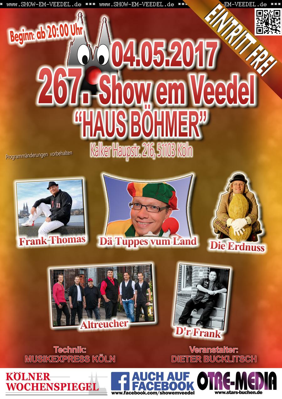 Köln - 267. Show em Veedel - 04.05.2017 - 20 Uhr - Eintritt frei