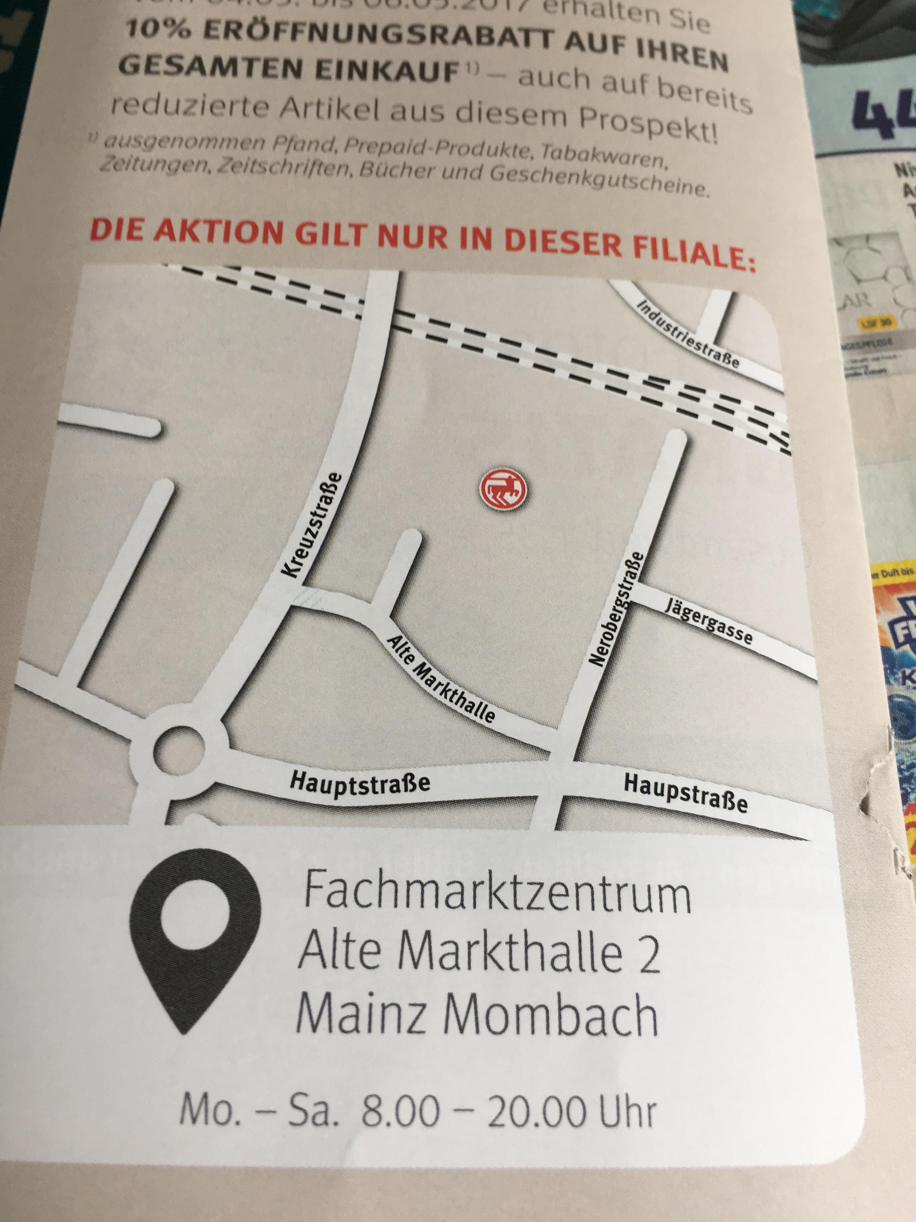 Neueröffnungen in Mainz Mombach: Rossmann 10% auf alles + Gratis Seifenspender, usw.. LIDL Neueröffnung: Gratis Kaffee, Brot