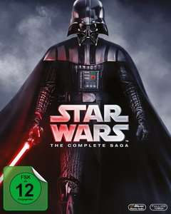 Star Wars: The Complete Saga I-VI für 57,90€ [Blu-ray, 9 Discs]