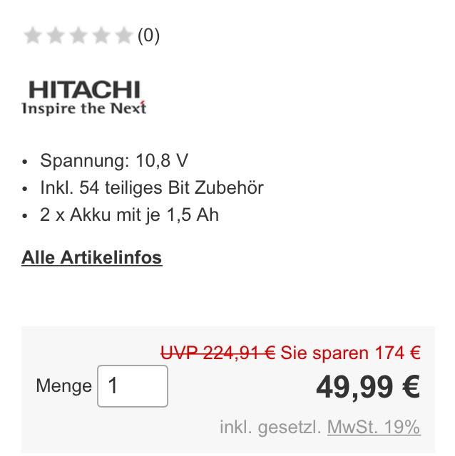 Hitachi Akku-Bohrer
