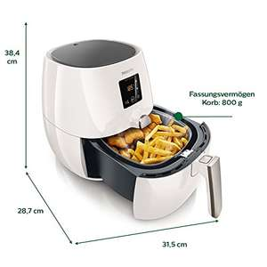 [Amazon; -36%] Philips Airfryer HD9238/54 Heißluftfritteuse, 1400W, 2,2L