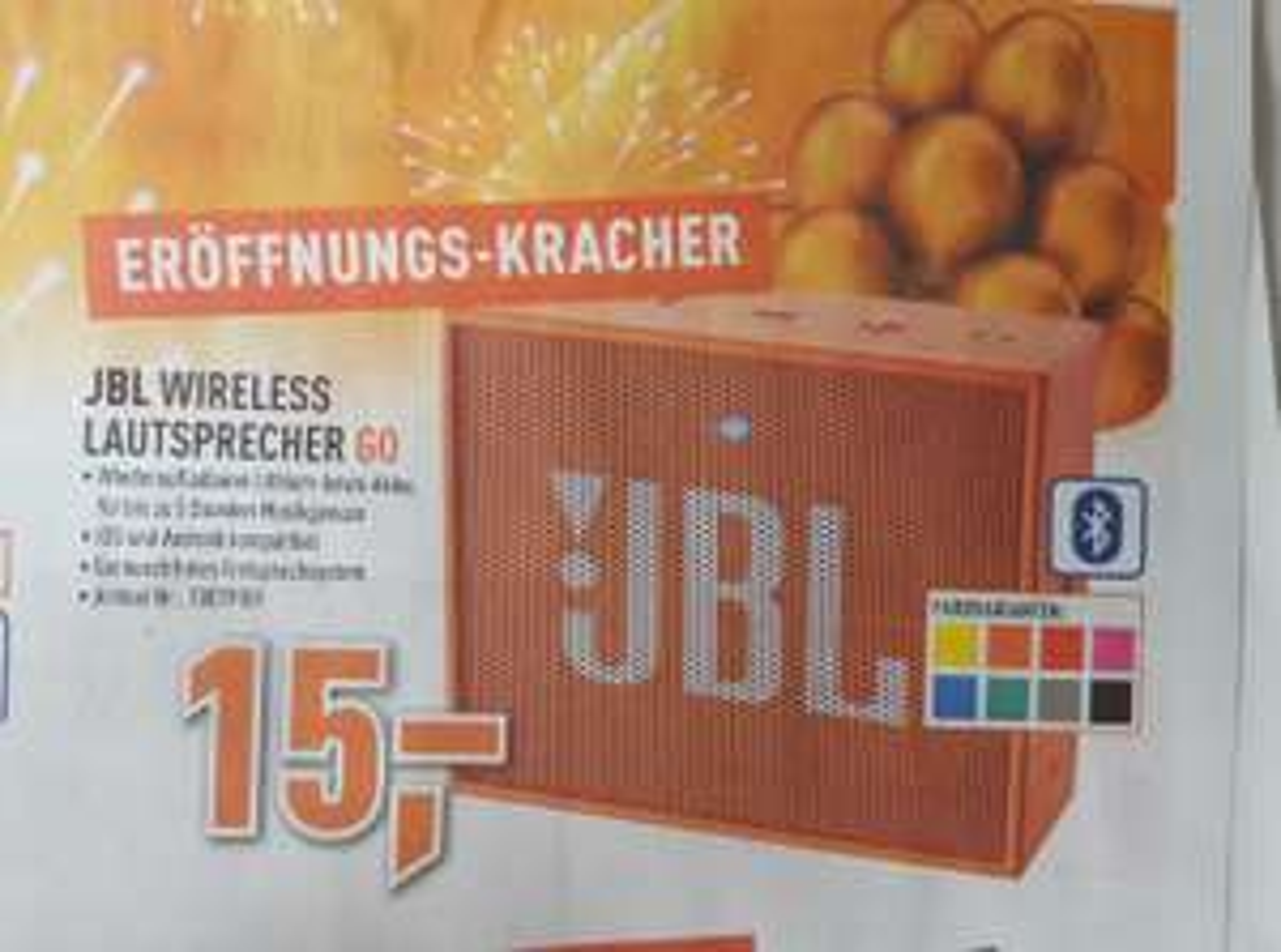 [Alle Berlet Filialen + online] Ab 4.5 JBL Go Wireless Lautsprecher alle Farben für je 15€