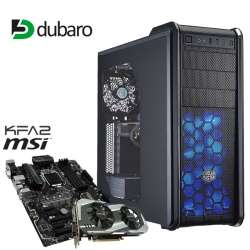 Gaming-PC auf Ryzen-Basis (Ryzen 1600, 16GB RAM, 275GB Crucial MX300 M.2, KFA² GeForce GTX 1060 OC mit 6GB, MSI B350, 450W Cougar GX-S [DC-DC, Gold]) für 854,10€ [Dubaro]