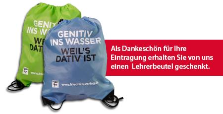 Kostenloser Turnbeutel / Lehrerbeutel vom Friedrich-Verlag