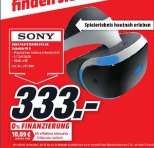 [Lokal Mediamarkt Landsberg am Lech] SONY PlayStation 4 PS4 VR Virtual Reality Brille Headset (CUH-ZVR1) für 333,-€