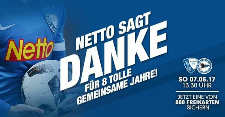 [lokal Bochum] Sitzplatzticket für VfL Bochum gg. Arminia Bielefeld für einen Einkauf von mind. 18,48 EUR bei NETTO MD
