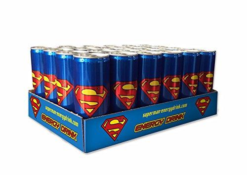 Amazon Prime: Superman Energy Drink Pfandfrei, 24er Pack (24 x 250 ml) oder Popeye Energy Drink Pfandfrei, 24er Pack (24 x 250 ml) und noch weitere Sorten...