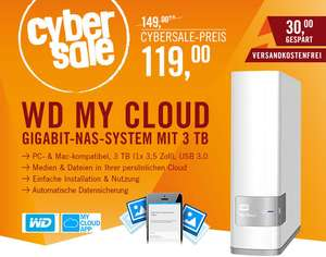 Western Digital My Cloud 3TB - Gigabit-NAS mit 3TB