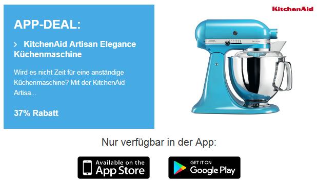 (iBood.de // APP ONLY) Ktchenaid Artisan 5ksm175 Artisan Elegance Küchenmaschine