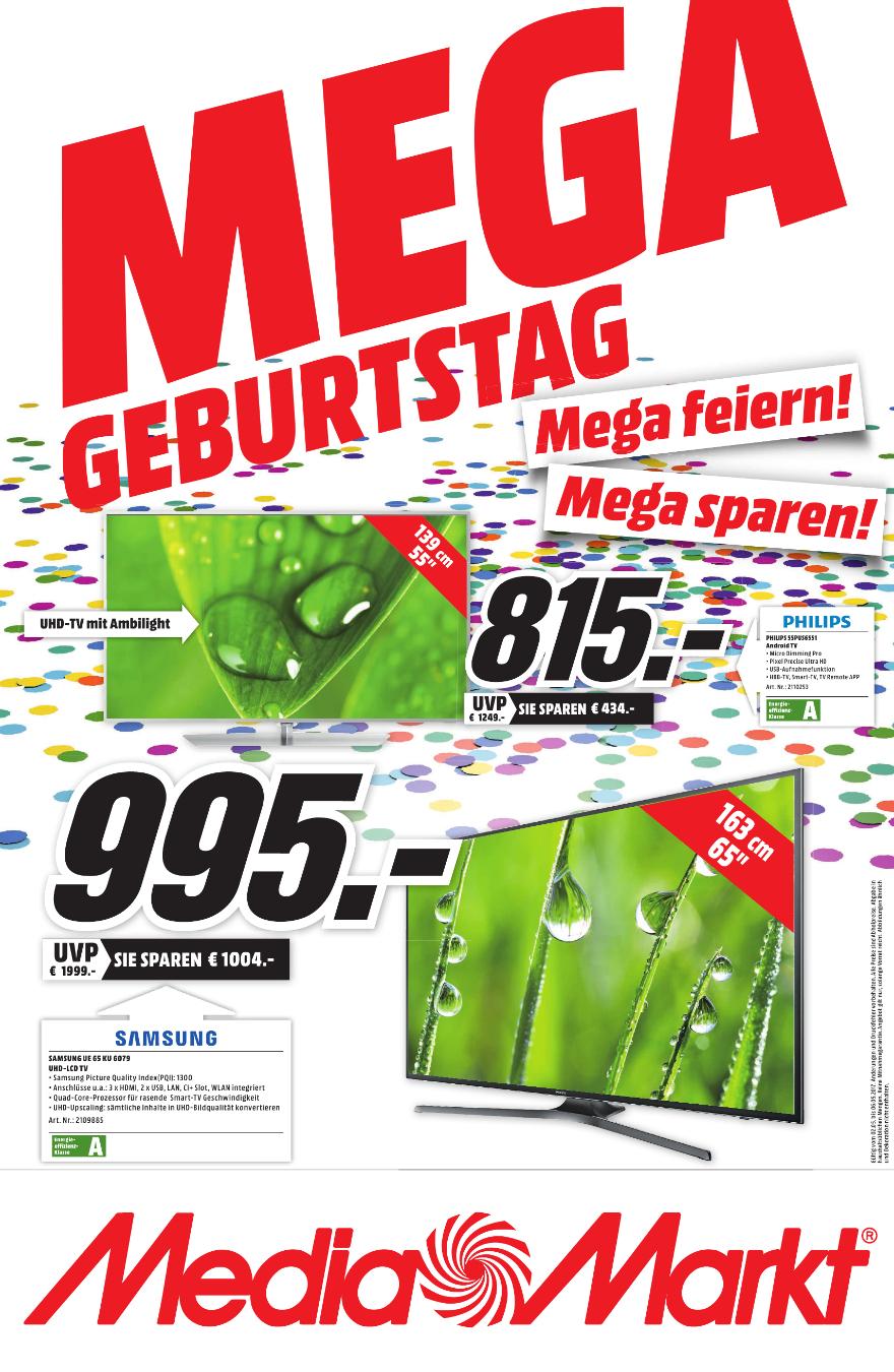 """Samsung UE65KU6079 - 65"""" Ultra HD Smart TV (Lokal Weiterstadt MM)"""