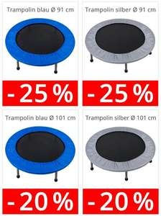 25% auf Trampolin Fitness-Trmpolin Minitrampolin --> 26,21 € statt 34,95 €