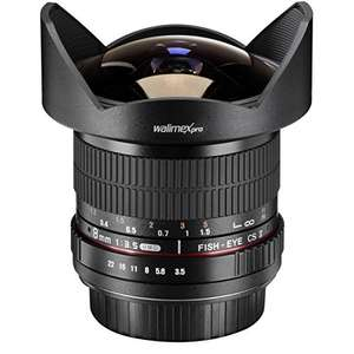 Walimex Pro Fish-Eye II 8 mm 1:3,5 DSLR für Nikon F bei Amazon Frankreich,  Kreditkarte nötig