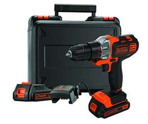 Black + Decker MT218KB 18V Li-Ionen Multifunktionswerkzeug Multievo Starter-Set