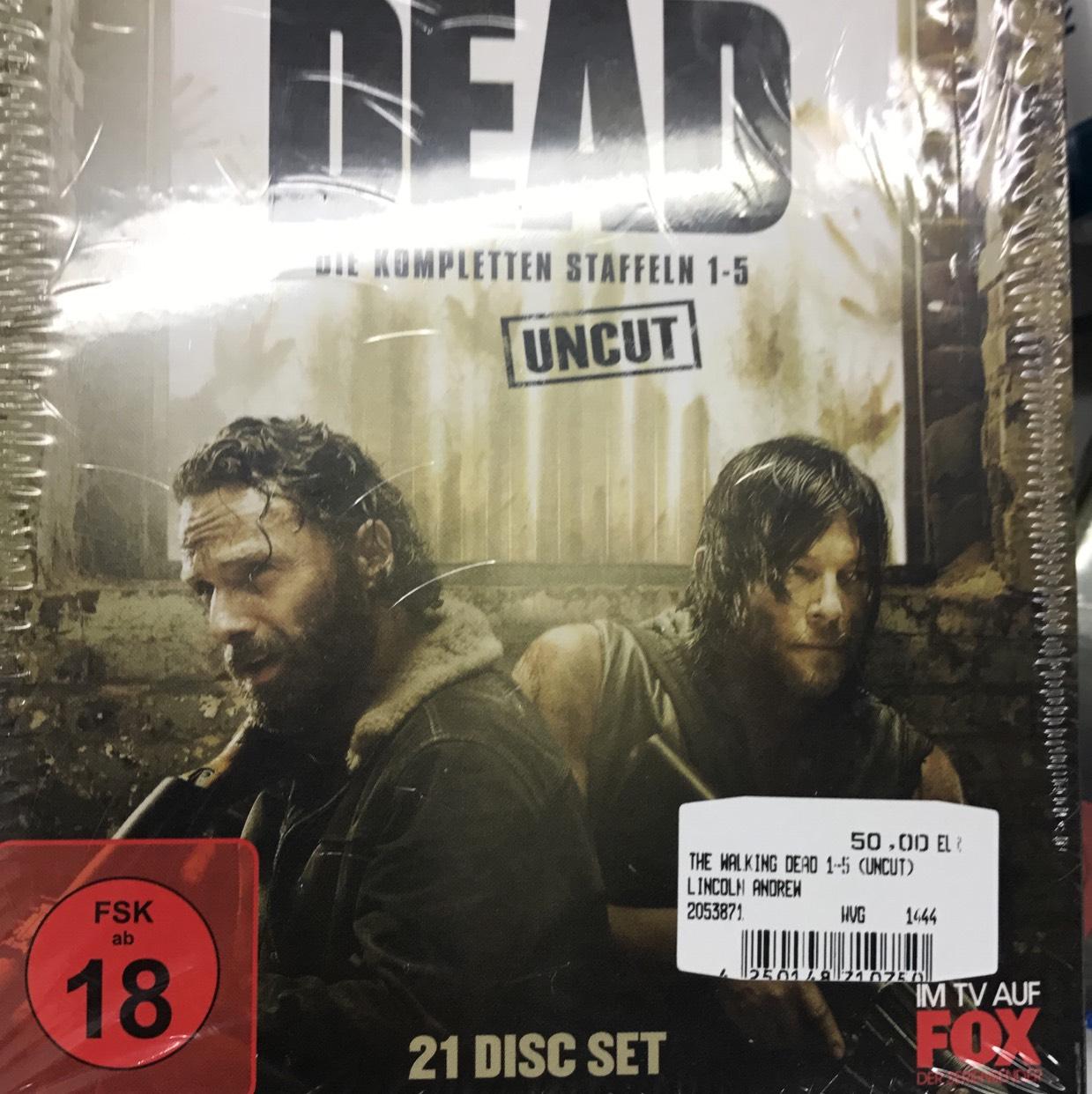 The Walking Dead Staffel 1-5 Blu Ray  Uncut Lokal Media Markt Nedderfeld