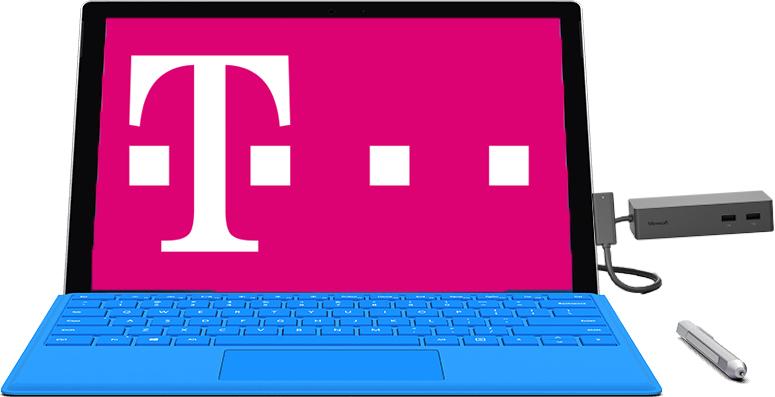 Telekom Magenta Mobil M (Friends) - bis zu 6 GB LTE + StreamOn + Surface Pro 4 (256 GB | 8 GB RAM | i5) + Type Cover + Docking Station + 15.000 Miles & More Meilen