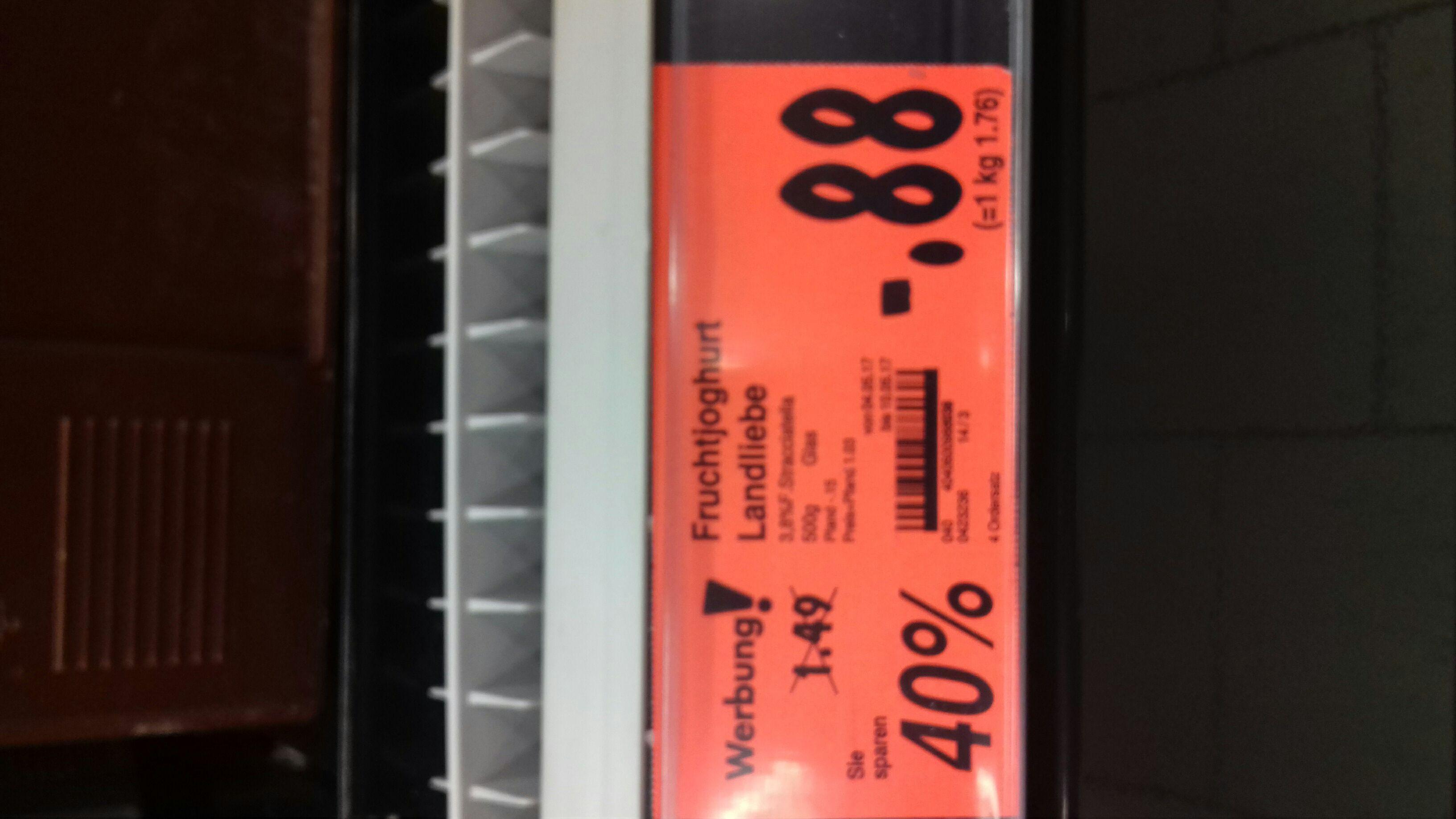 Landliebe Fruchtjoghurt versch. Sorten je 0,88€ (KAUFLAND)