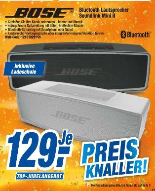 Bose SoundLink Mini II Bluetooth Lautsprecher in Schwarz oder Weiß für je 129,-€ [Expert Technikmarkt-Alle 20 Filialen]