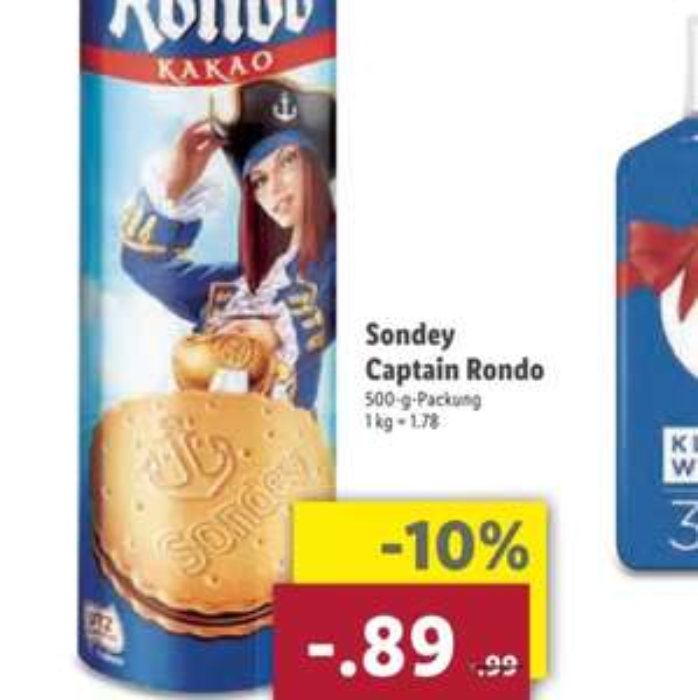 [Lidl] Sonday Captain Rondo für 0,89€ ab 8.5