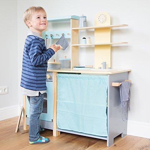 [amazon.it]  Ultrakidz Komfort-Spielküche aus Naturholz, große Küchenzeile inkl. 13-teiliger Kochausstattung für 70€ statt 145€