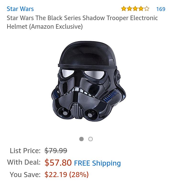 [Amazon.com] Star Wars The Black Series Shadow Trooper Helm
