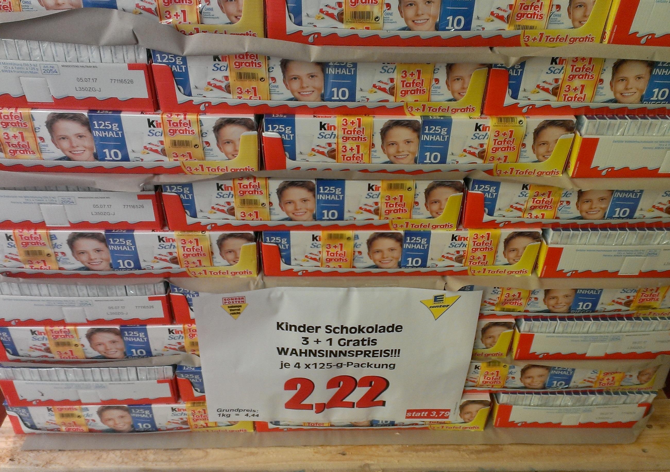 [Lokal Berlin Tempelhof] Kinderschokolade für 44ct/100gr - Edeka Center am Hafen