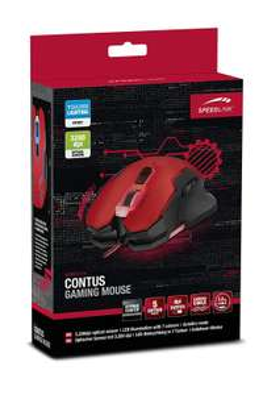 "Speedlink™ - Gaming Maus ""Contus"" (5-Tasten LED-Sensor,3200dpi,Beleuchtung,USB) ab 6,74 [@Saturn.de]"