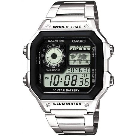 Casio Collection Herren-Armbanduhr Digital Edelstahl – AE-1200WHD-1AVEF [Amazon]