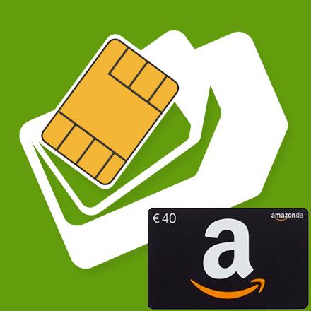 mobilcom-debitel o2 3 GB LTE + 100 + 100 für 8,99 € pM + 40 € Amazon Gutschein *UPDATE*