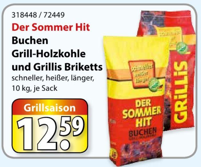 [lokal: PB, MS, OS, ... ] 10 kg ProFagus Grillis Buchen Briketts für 1,49 €/kg (brutto)