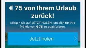 Booking 75€ Cashback