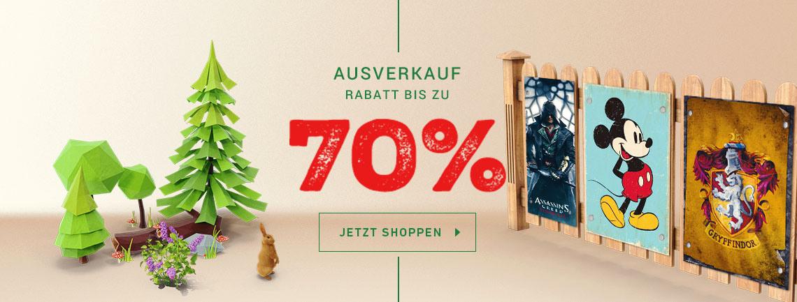 Ausverkauf bei monkeyposters.de + 3+1 Aktion