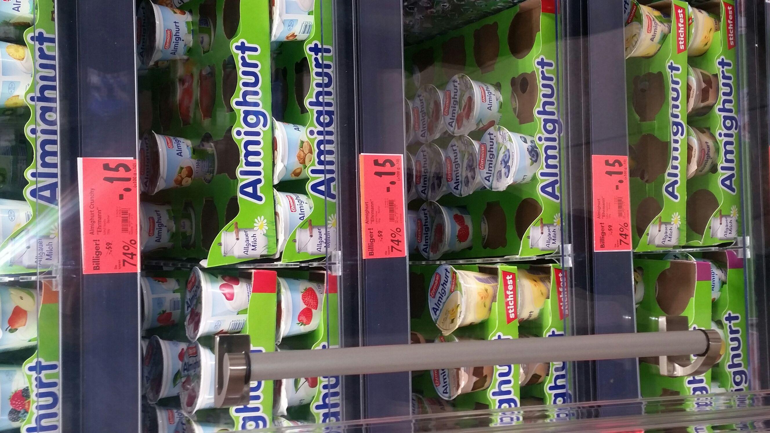 KAUFLAND (Lokal Itzehoe )  Almighurt von Ehrmann nur 0.15€ statt  0.59€  KEINE MHD