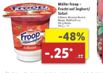 Lidl Froop Joghurt 0,25 ( 08.05. - 13.05)