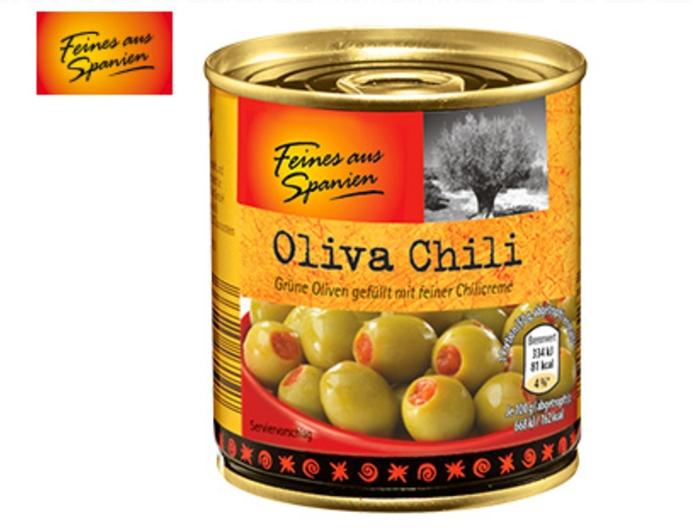 Aldi Süd gefüllte Oliven versch. Sorten
