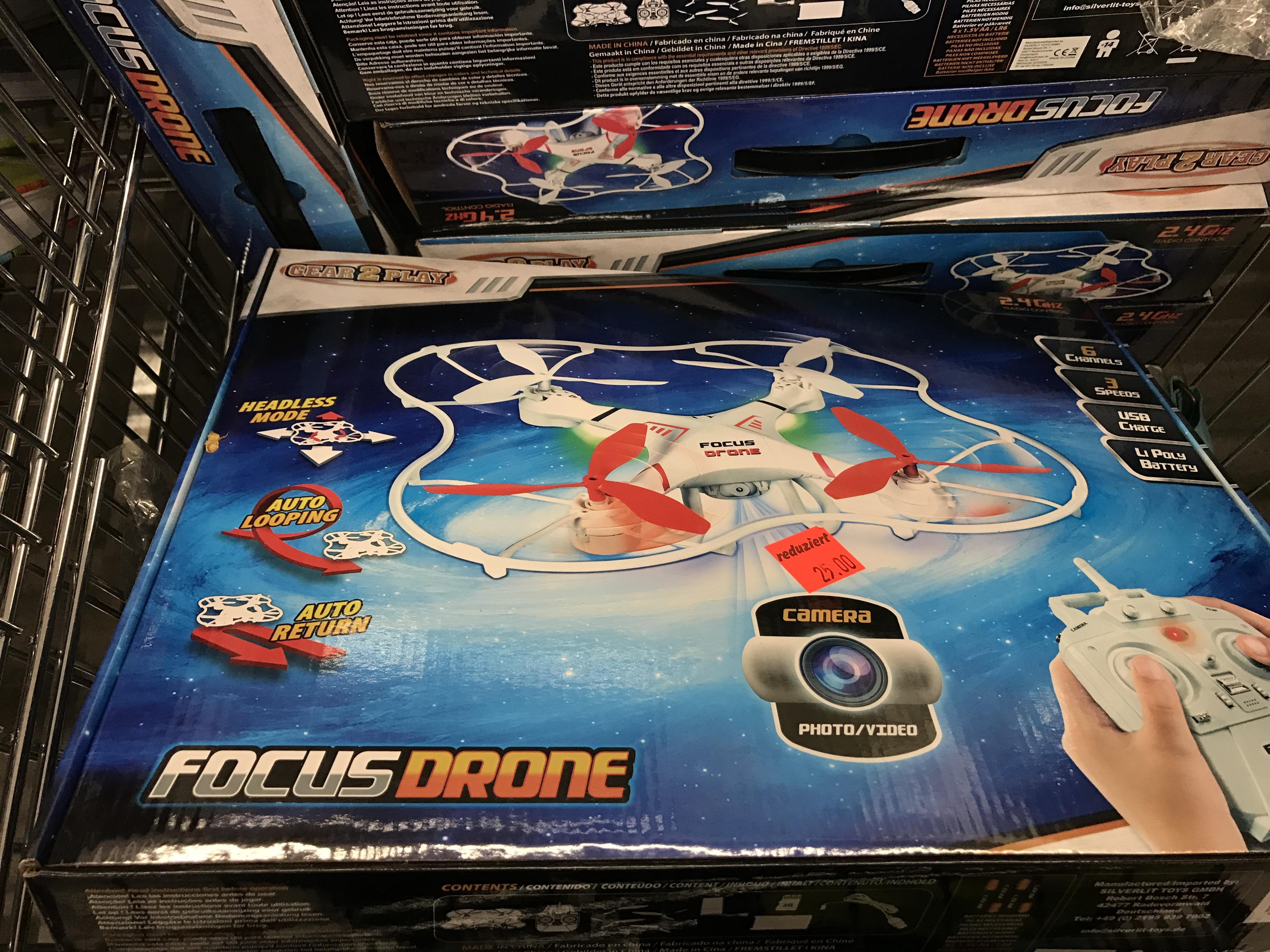 [Lokal Aldi Marburg] Quadrocopter Drohne mit Kamera für 25€