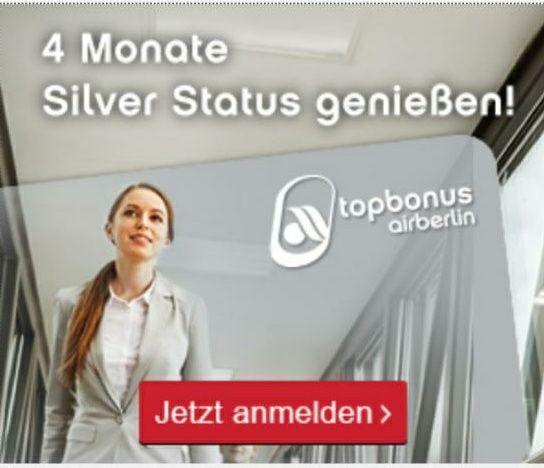 Topbonus: 4 Monate Silber Status kostenlos