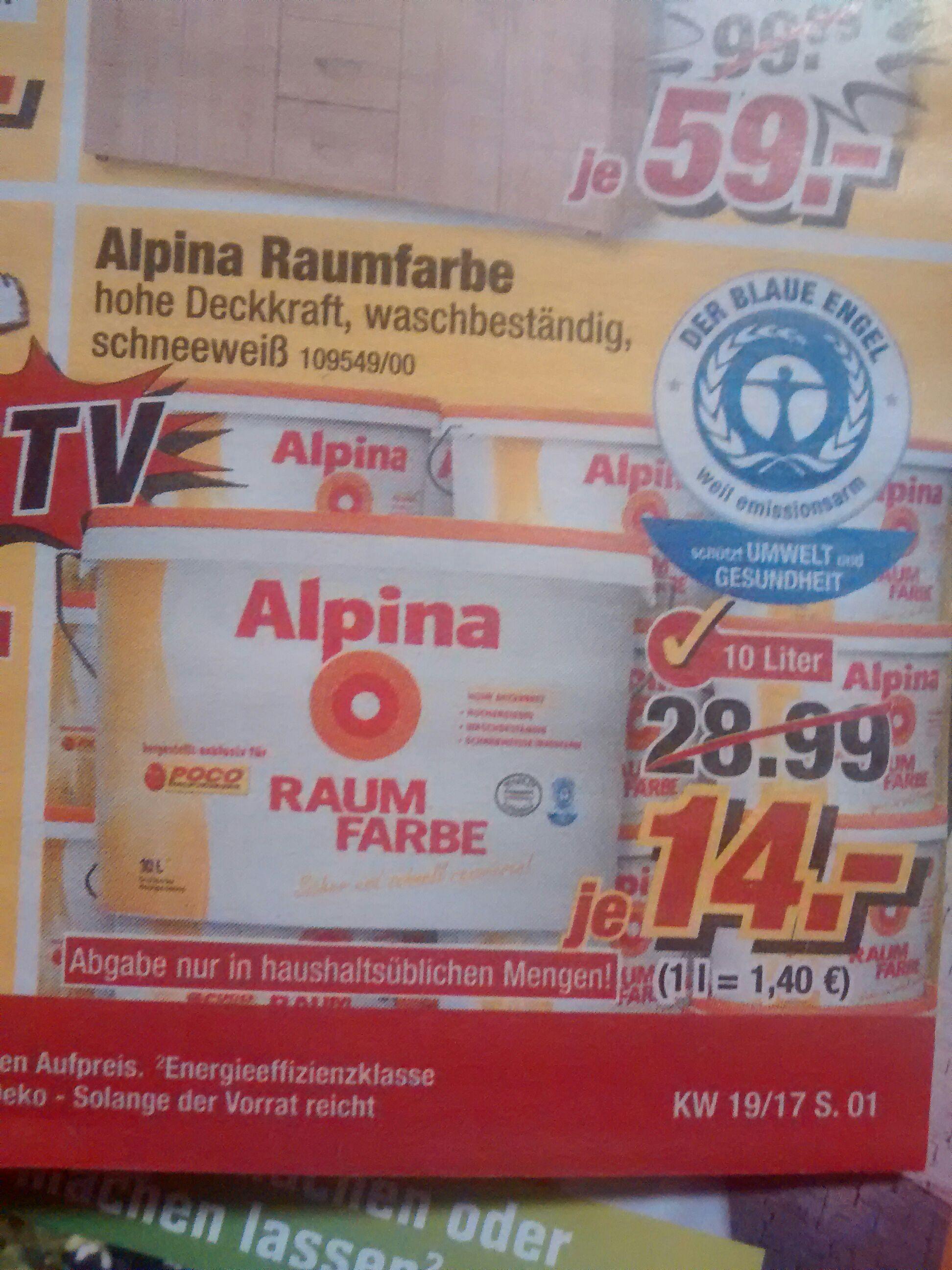(Poco) Alpina Raum Farbe 10L