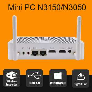 Hystou Mini Computer (Intel Atom N3150 1,6GHz, WLAN, USB3, HDMI, Gigabit Ethernet)