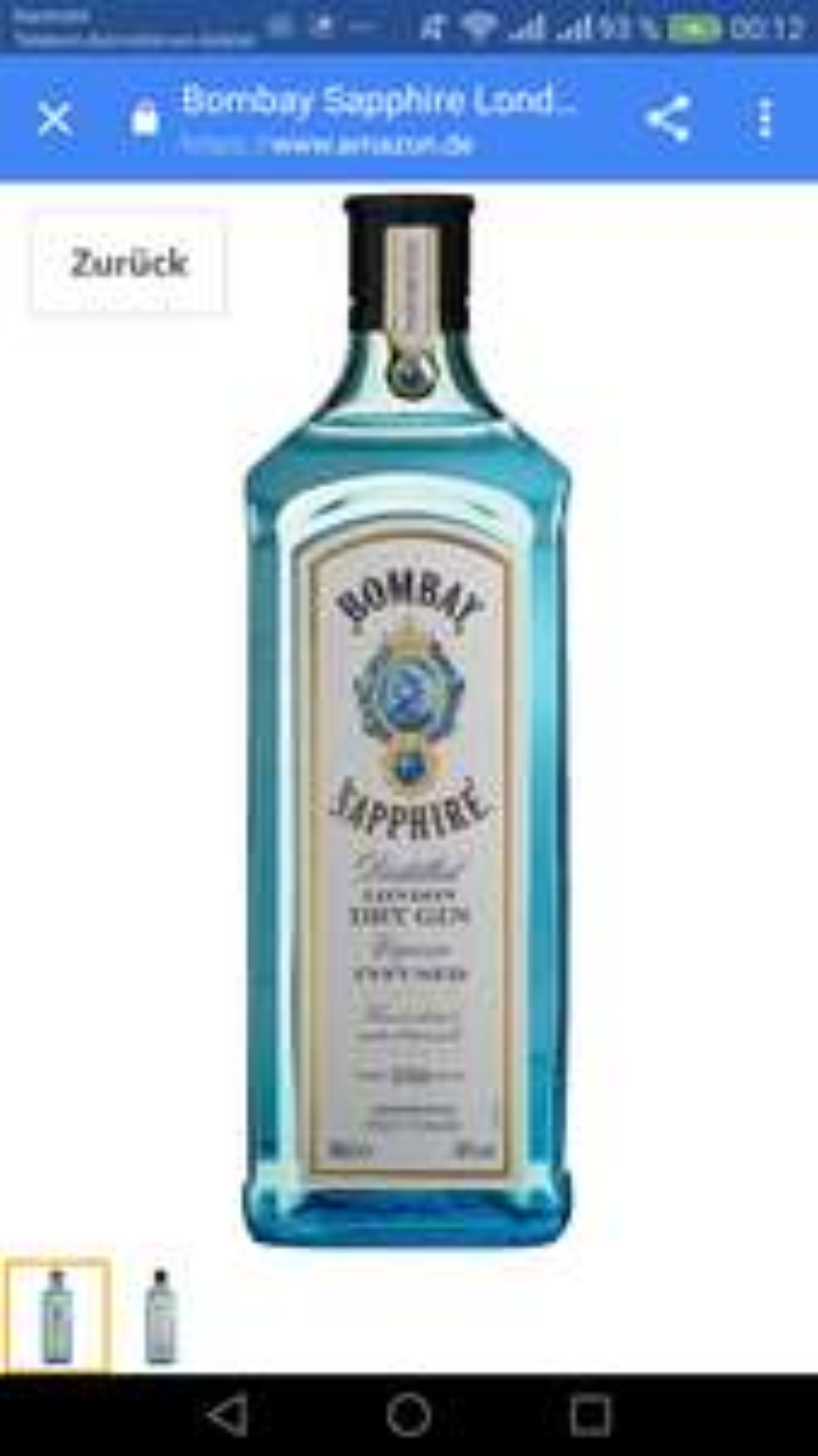 Bombay Sapphire Gin 19.99  1 l. amazon prime