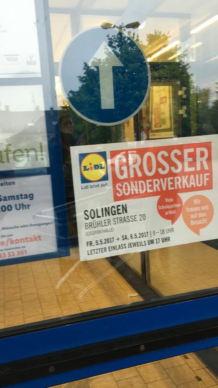 Lidl Lagerverkauf Lokal Solingen