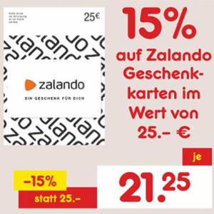 [Netto MD] 15% Rabatt auf 25€ Zalando Geschenkkarte