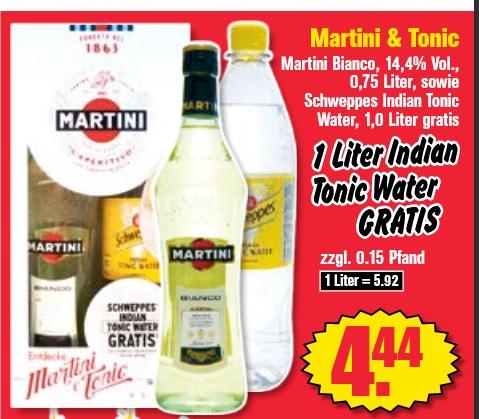 Martini Bianco & Schweppes bei Kruemet ab dem 10.Mai nur 4,44€