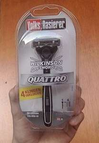 Rasierer Wilkinson Quattro Volksrasierer inkl. 4 Klingen [Lidl Köln Zollstock eventuell nur Lokal]