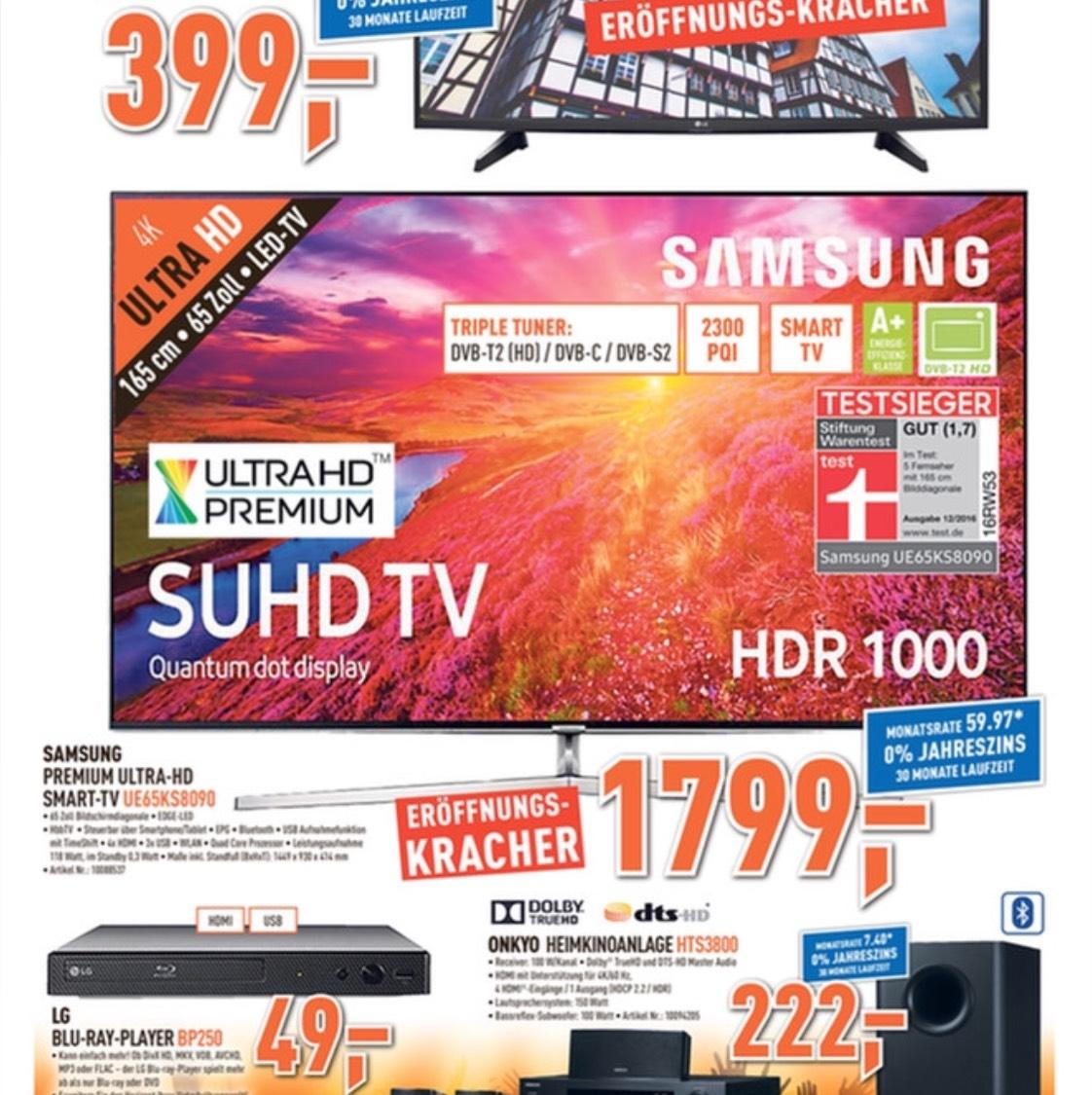 Samsung UE65KS8090 bei Berlet Soest für 1799€