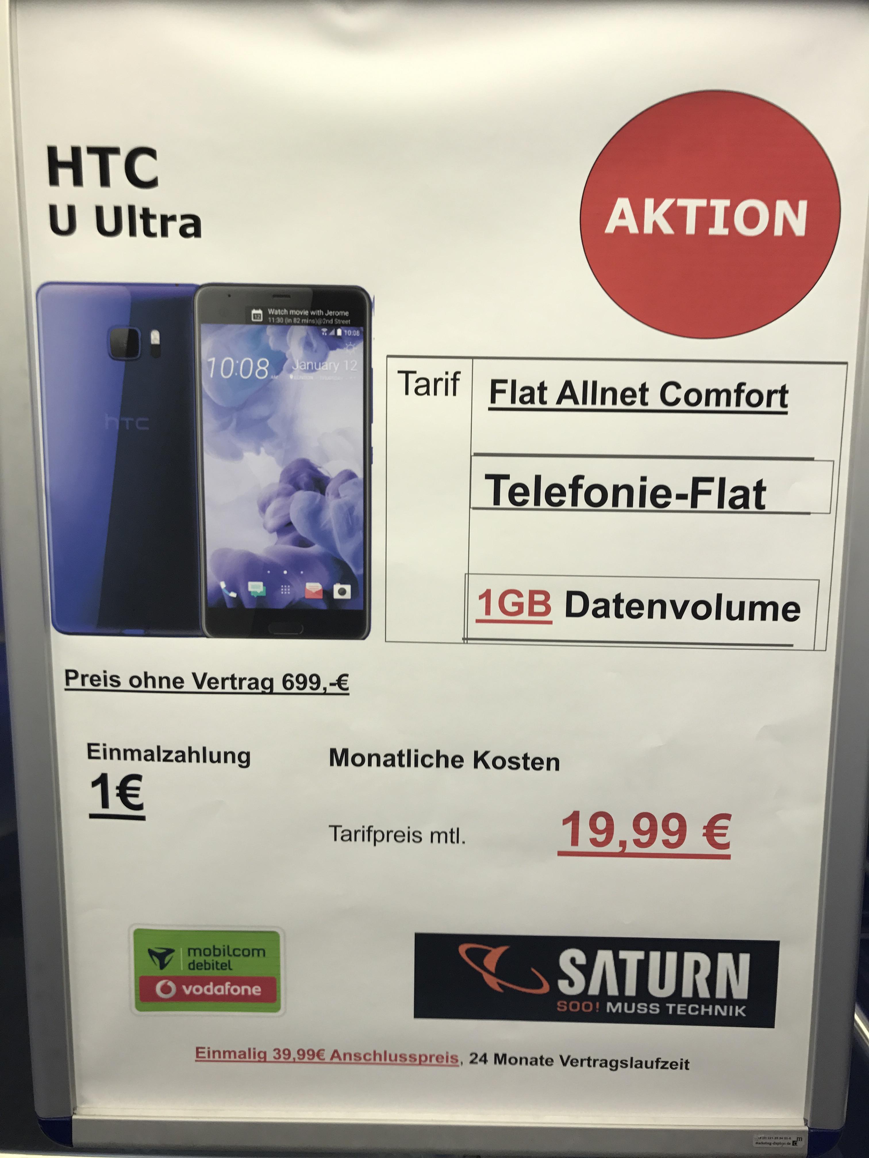 HTC U ULTRA 1€ Mtl.19,99€