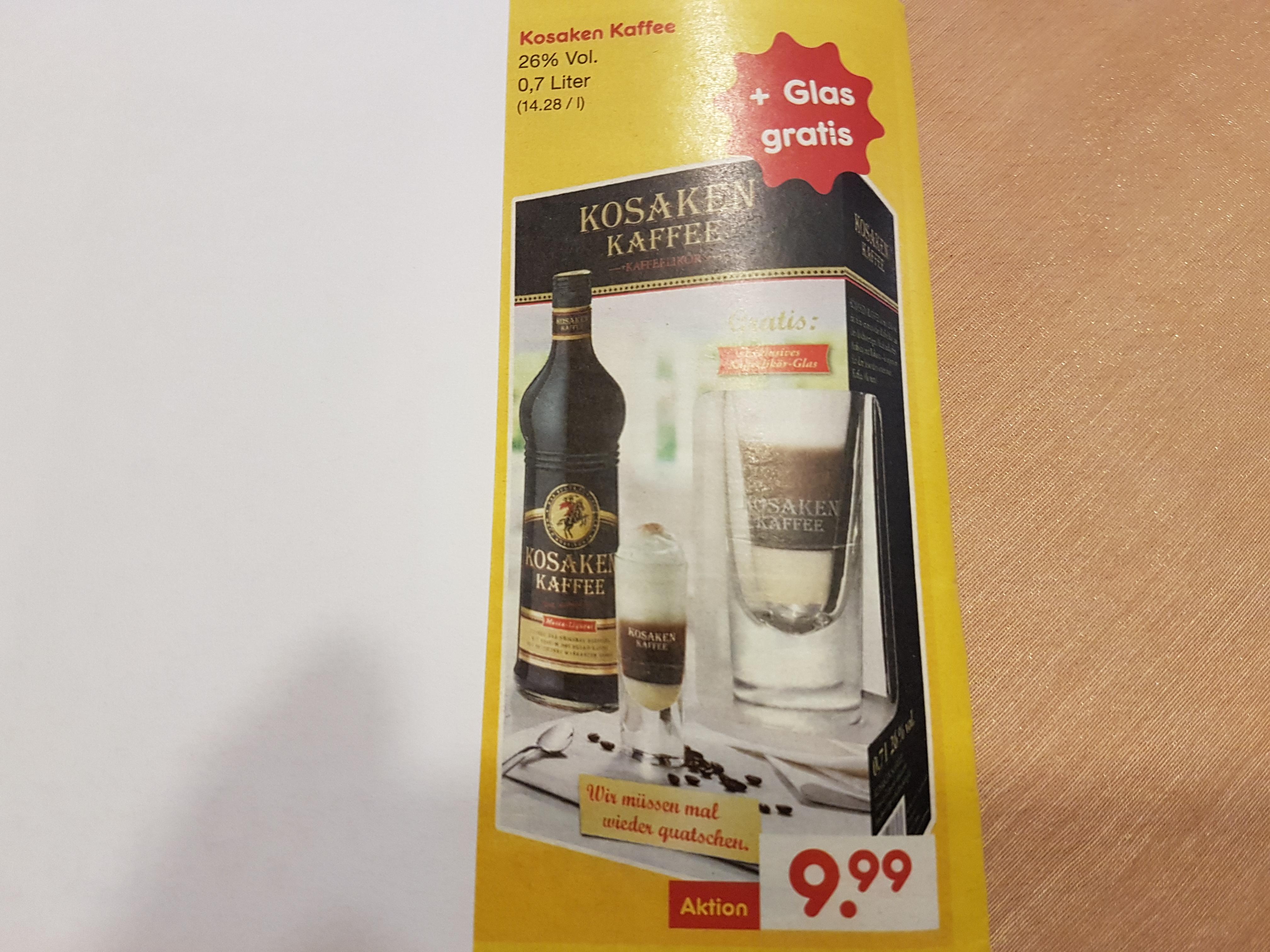 Kosaken Kaffee Likör  ( Netto)