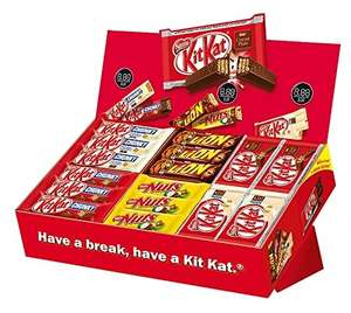 Nestlé Sortimentskarton (1 x 2,6kg, 64 Riegel) für 19,99€ oder Mars Topsellerbox für 23,90€ (1x 3,6kg, 72 Riegel) [Amazon Prime]