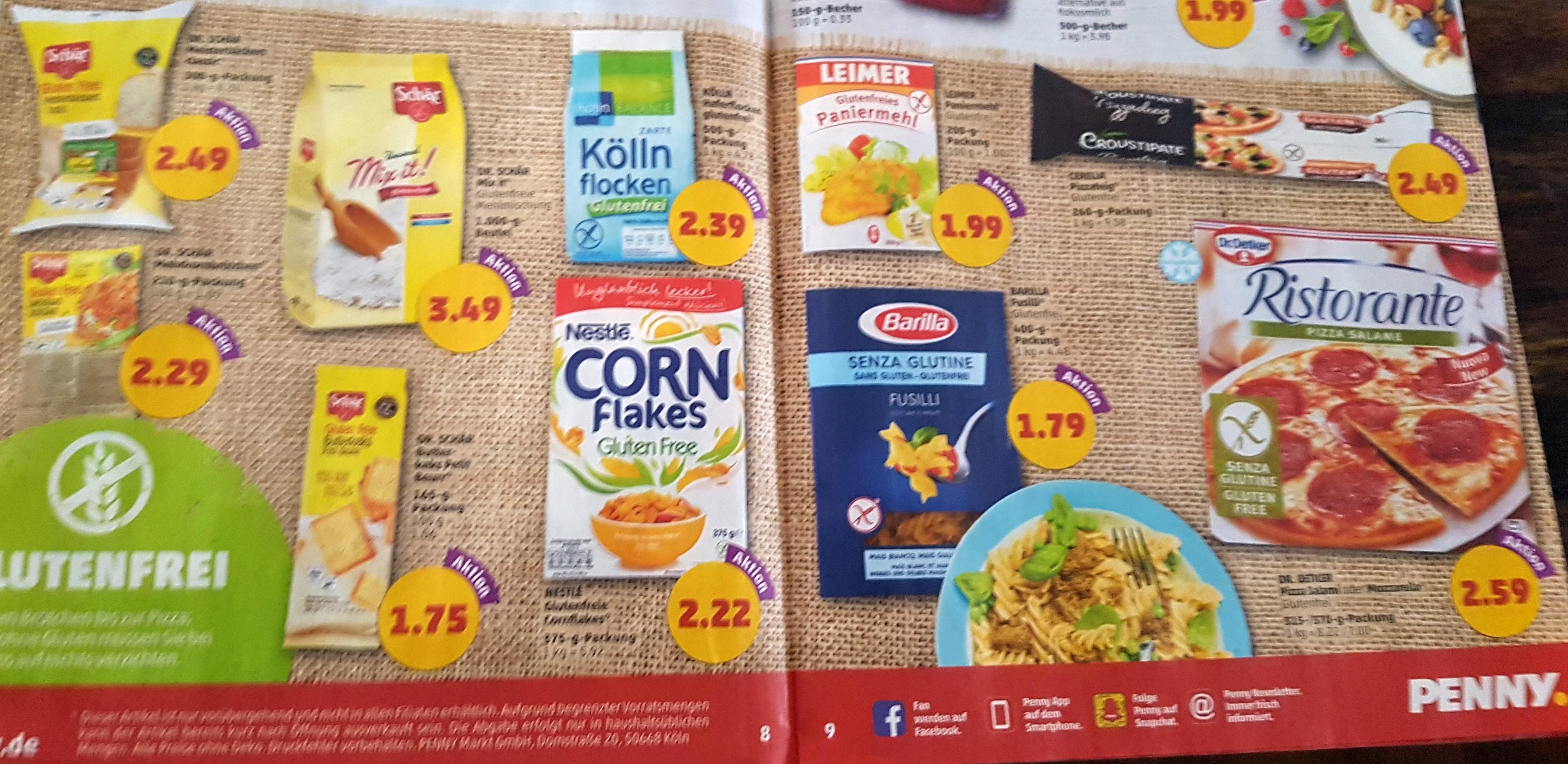 Penny – glutenfreie Produkte im Angebot