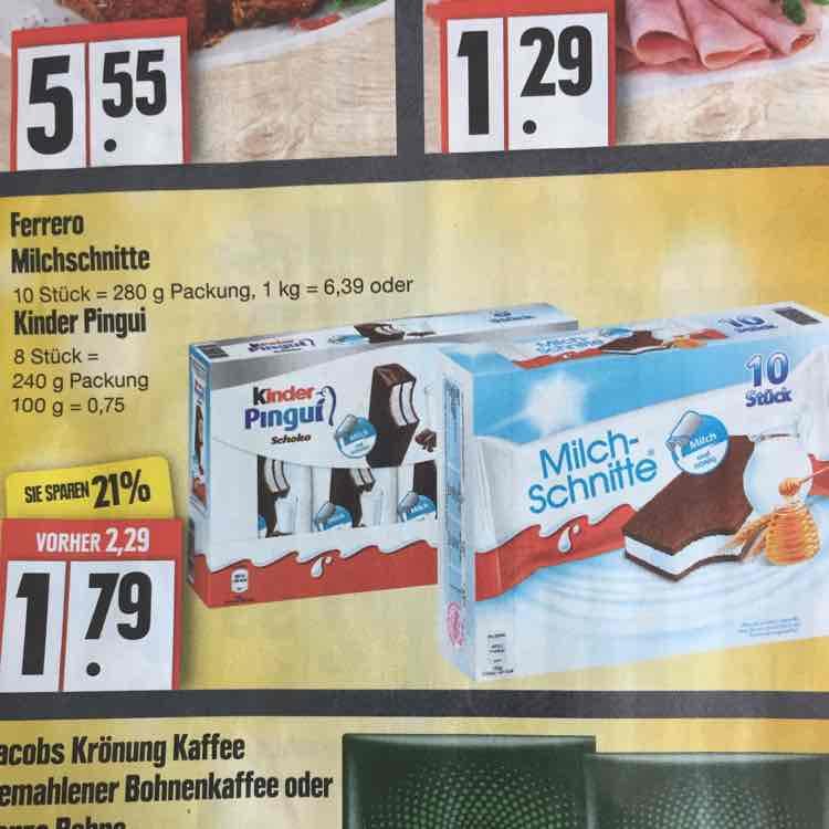 Ferrero Milchschnitte/Kinder Pingui